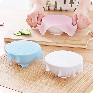 1pcs novo multi-funcional silicone Saran filme plástico reutilizáveis tampa de vácuo cozinha cobertura de armazenamento de alimentos