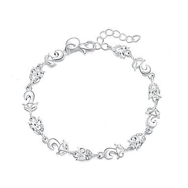 Dame Sølvplett Fuskediamant Vedhend Armband - Luksus Mote Dyr Sølv Armbånd Til Gave