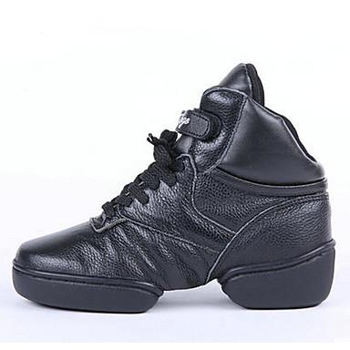 Zapatos de baile-Personalizables-Mujer Hombre-Jazz-Tacón Plano-Cuero-