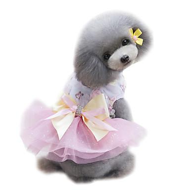 Hund Smoking Kjoler Hundeklær Prinsesse Grønn Rosa Lyseblå Chiffon Kostume For kjæledyr Dame Mote Bryllup