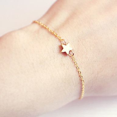 abordables Bracelet-Chaînes Bracelets Etoile dames Bohème Bijoux Movie Bracelet Bijoux Dorée Argent pour Regalos de Navidad Mariage Soirée Anniversaire Fiançailles
