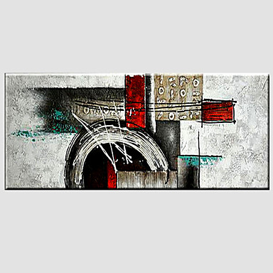 Pintura al óleo pintada a colgar Pintada a mano - Abstracto Modern Lona / Lona ajustada