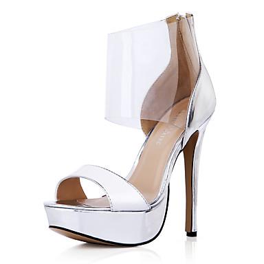 05585460 Aiguille Arc Polyuréthane Talon Evénement Argent Eté Chaussures Sandales ouvert Mariage ciel Confort Bout Soirée Femme en amp; qHTv44
