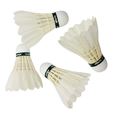 12st Badminton Federbälle aus echten Federn Federbälle Hochfest Langlebig Hochelastisch für Gänsefeder