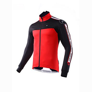 Mysenlan للرجال جاكيت الدراجة دراجة هوائية الربيع جاكيتات فراء / قمم كلاسيكي بوليستر أحمر / أخضر ملابس ركوب الدراجات
