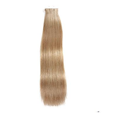 Cinta 20pcs en el pelo rubio sucio rubio rubio beige 40g 16inch 20inch 100% de las extensiones # 18 del pelo para las mujeres