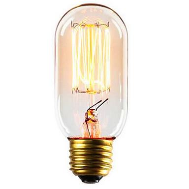 1pc 40W E26/E27 T45 2300 K Glødende Vintage Edison lyspære AC 220V AC 220-240V V
