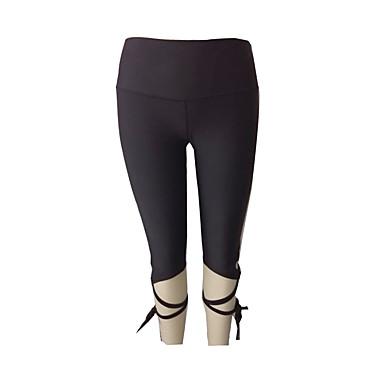 Dame sport Leggings Yoga & Danse Sko Fort Tørring, Pustende Elastisk Ensfarget