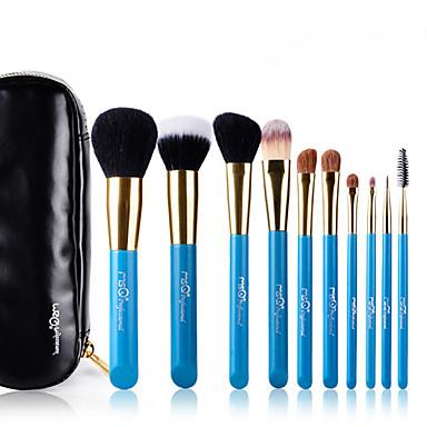 10pcs Makeup børster Profesjonell Børstesett Geitehår børste / Pony børste / Nylon Børste Hypoallergenisk / Begrenser bakterier