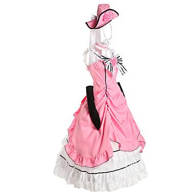 Esinlenen Black Butler Ciel Phantomhive Anime Cosplay Kostümleri Cosplay Takımları / Elbiseler Kırk Yama Kolsuz Elbise / Eldivenler / Fiyonk Uyumluluk Erkek / Kadın's / Wiktoriańskie