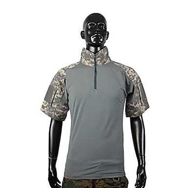 Herre Dame Unisex Kortermet T-skjorte til jaktbruk Fort Tørring Kamuflasje T-Trøye Topper til Jakt S M L