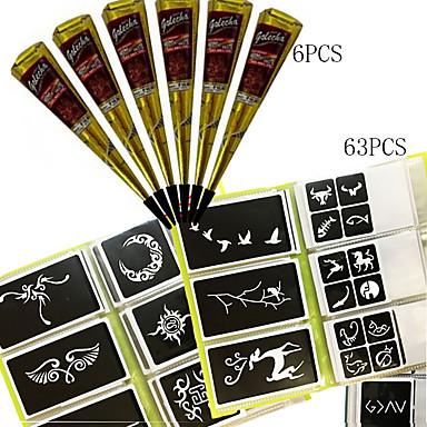 1 pcs Tubos de Henna Tatuagens temporárias Impermeável Arte para o Corpo Rosto / Mãos / Braço