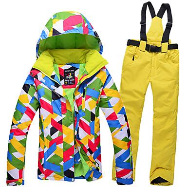 GQY® Mujer Chaqueta y pantalones de Esquí Impermeable, Mantiene abrigado, Resistente al Viento Esquí / Deportes de Invierno Poliéster