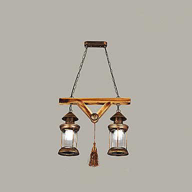 rustique r tro globe lustre pour salle de s jour chambre. Black Bedroom Furniture Sets. Home Design Ideas