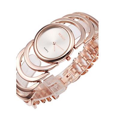 ASJ Damen Armbanduhr Japanisch Gold / Rotgold Analog damas Armreif Modisch Elegant - Golden Rotgold Ein Jahr Batterielebensdauer / SSUO SR626SW