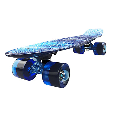 お買い得  スクーター&スケートボード-22 inch クルーザースケートボード PP(ポリプロピレン) プロフェッショナル ブルー