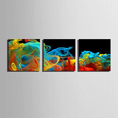 Abstrato Fantasia Modern, 3 Painéis Tela de pintura Quadrada Estampado Decoração de Parede Decoração para casa