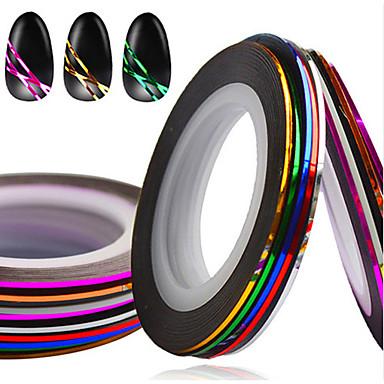 1set 10rolls Nail Foil Striping Tape Neglekunst Manikyr pedikyr Mote Daglig / Folie Stripping Tape