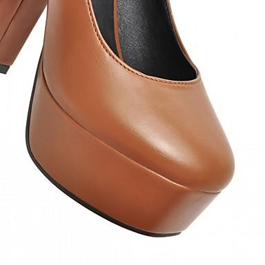 Points Talon 05613479 Femme rond Marche Talons à Cuir Confort Verni Chaussures Chaussures Printemps Bout Eté Nouveauté Bottier Similicuir 11w7aTrxq
