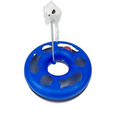 Katzenspielsachen Haustierspielsachen Interaktives Maus-Spielzeug Bällebahn Maus Blau Plastik