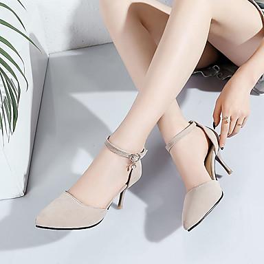 Perle Sandales Imitation Chaussures pointu Habillé Printemps Similicuir Beige Talon 05692919 Noir Aiguille Confort Eté Femme Bout H4qgPwxXX