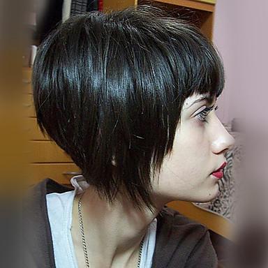 Perruques Capless A Cheveux Humains Cheveux Naturel Humain Droit Bob