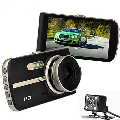 H83 1080p / Full HD 1920 x 1080 DVR de carro 120 Graus / 140 Graus Ângulo amplo 12.0MP CMOS 4 polegada IPS Dash Cam com Visão Nocturna /