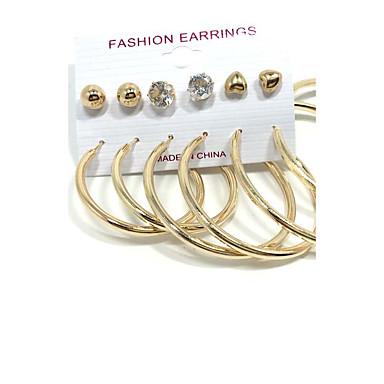 Damen Ohrstecker Kreolen Imitierte Perlen Anhänger Stil Multi-Wege Wear Perle Aleación Kreisförmig Schmuck Hochzeit Party Alltag Normal