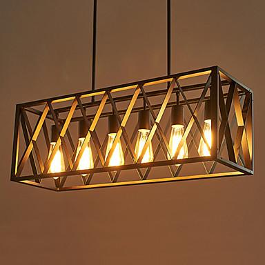 6-luz Montagem do Fluxo Luz Descendente - Designers, 110-120V / 220-240V Lâmpada Não Incluída / 15-20㎡ / E26 / E27