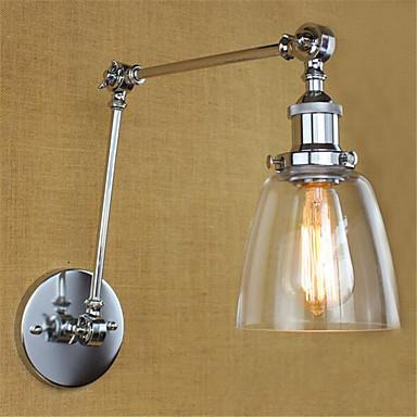Rústico / Campestre / Regional Swing Arm Lights Metal Luz de parede 110-120V / 220-240V 40W