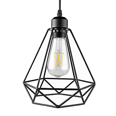 Gaiola de metal preto do vintage loft mini pingente luzes sala de estar sala de jantar corredor café bares luminária