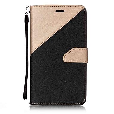 غطاء من أجل Asus محفظة / حامل البطاقات / مع حامل غطاء كامل للجسم سادة قاسي جلد PU إلى Asus Zenfone 3 ZE520KL(5.2) / Asus ZenFone 3 (ZE552KL)(5.5)