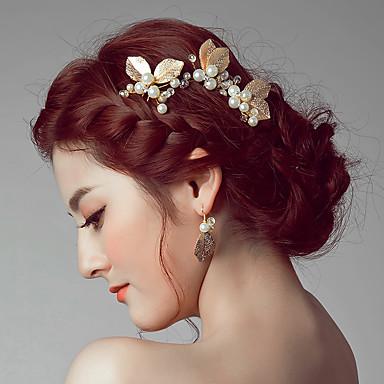 سبيكة أغطية الرأس / مشبك للشعر / عصا للشعر مع ورد 1PC زفاف / مناسبة خاصة / فضفاض خوذة / دبوس للشعر
