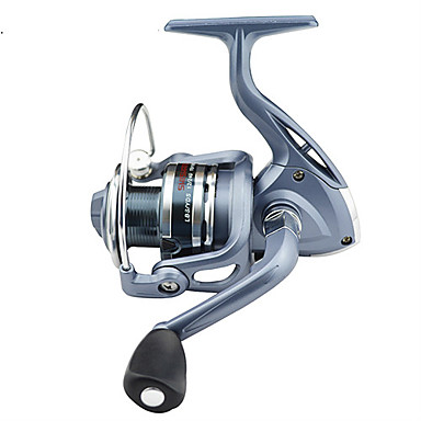 cheap Fishing Reels-Fishing Reel Spinning Reel 5.5:1 Gear Ratio+6 Ball Bearings Right-handed / Left-handed / Hand Orientation Exchangable Sea Fishing / Bait Casting / Ice Fishing - BASIC4000 / Jigging Fishing