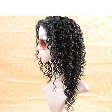 흑인 여성, 100 인간의 머리 레이스 정면 가발, 말레이시아 곱슬 전체 레이스 가발 브라질 머리 가발