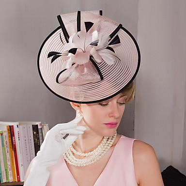 ريشة قطع زينة الرأس / قبعات / أغطية الرأس مع ورد 1PC زفاف / مناسبة خاصة / الأماكن المفتوحة خوذة