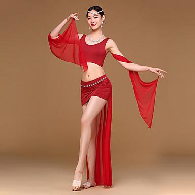 رقص شرقي أزياء للمرأة التدريب مودال / سباندكس ثنيات بدون كم ارتفاع منخفض بلايز / الالتفاف