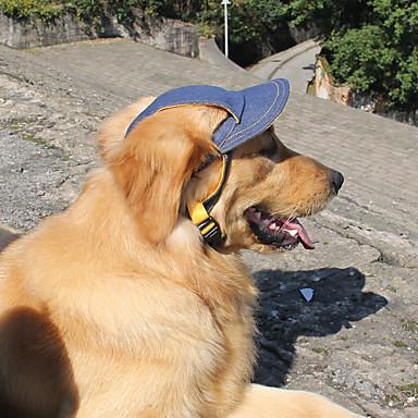 Hund Hodetørklær og hatter Hundeklær Jeans Blå Denim Kostume For kjæledyr Sommer Herre / Dame Sport