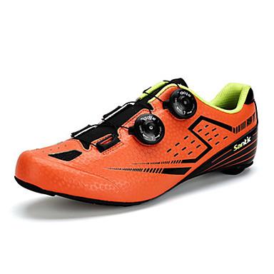 رخيصةأون أحذية ركوب الدراجة-SANTIC Road Bike Shoes ألياف الكربون متنفس مكافح الانزلاق خفيف جدا (UL) ركوب الدراجة أزرق برتقالي رجالي أحذية الدراجة / ستوكات صناعية PU / ضابط الشريط المعدني