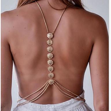 Cadeia corpo / Cadeia de barriga Fashion Mulheres Dourado / Prata Bijuteria de Corpo Para Esportes