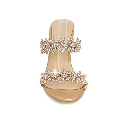 compensée Eté Synthétique Femme Bout Arrière Sandales A Bride de Strass Hauteur semelle 05692944 Or rond Argent Chaussures Automne 4E4H5xnwPq