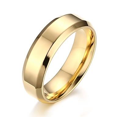 voordelige Herensieraden-Heren Ring Goud Zwart Zilver Staal Cirkelvorm Dagelijks Sieraden