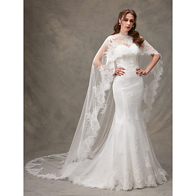 Lace / Tulle Wedding / Party / Evening Women's Wrap With Lace Capes