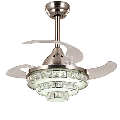 Moderncontemporary crystal dimmable led dimmable with remote moderncontemporary crystal dimmable led dimmable with remote control ceiling fan ambient light for living aloadofball Choice Image