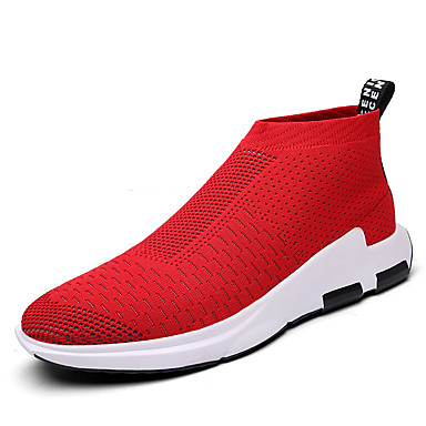 للرجال تول ربيع / خريف كاجوال / مريح أحذية رياضية أسود / رمادي / أحمر