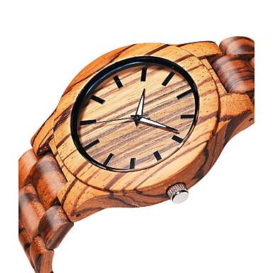 baratos Relógios Homem-Homens Relógio de Pulso Quartzo Madeira Bege de madeira Analógico Elegante