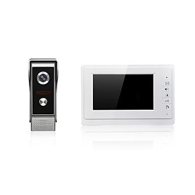 7 polegadas vídeo porteiro tela grande de um para um campainha para sistema de entrada de porteiro
