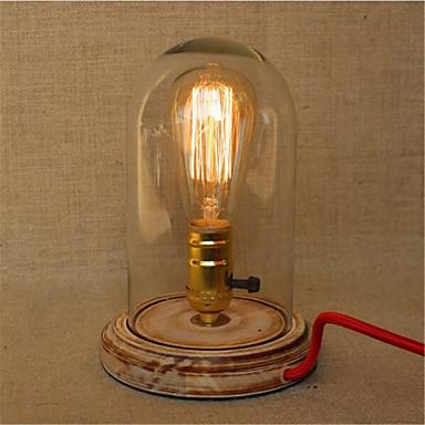 Rústico/Campestre Proteção para os Olhos LED Luminária de Escrivaninha Para Madeira/Bambu 220-240V