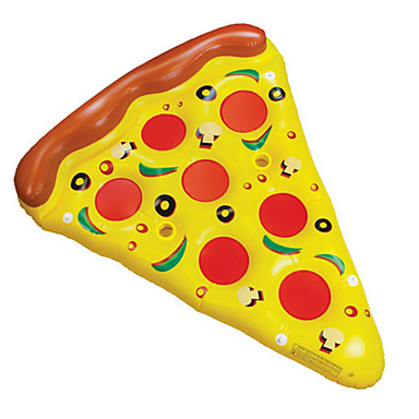 Pizza Boias de piscina infláveis Plástico Adulto Para Meninos