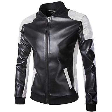 povoljno Motociklističke jakne-18LBY6FH Odjeća za motocikle Zakó za PU koža Sva doba Vjetronepropusnost